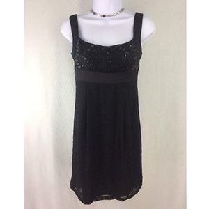 Nanette Lepore Black Beaded Sequin Polka Dot Dress